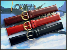18mm Black Brown Tan Oily Leather XL watch band strap IW SUISSE 16-19-20-22 USA