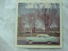 Vintage Car Photo Unusual Drive By 1958 Plymouth in Blurry Motion 778