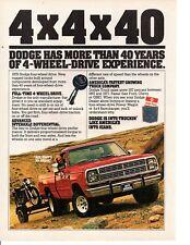 1979 DODGE TRUCK 4-WHEEL-DRIVE ~ ORIGINAL PRINT AD