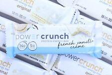 48 Power Crunch Protein Wafer Bar French Vanilla Creme PowerCrunch Low Sugar