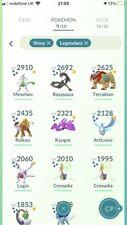 Pokémon Go 11 Shiny Legendaries - 33 Shinnies - Shiny Mewtwo - Shiny Meltan