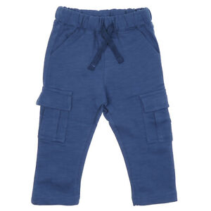 White / Navy Trousers Pants for Baby Boys | 6 12 18 24 Months | 100% Cotton