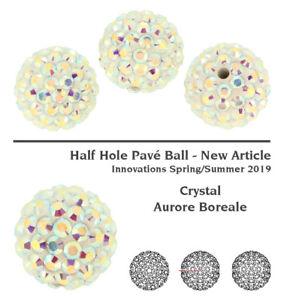 Genuine SWAROVSKI 86301 BeCharmed Pavé Ball Half Hole Beads * Many Colors