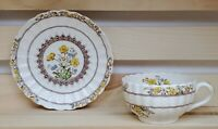 Copeland Spode England Buttercup Tea Cup and Saucer Set Vintage Floral