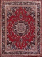 Vintage Classic Floral Kashmar Area Rug Traditional Oriental Hand-Knotted 10x13
