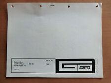ORIG. Ersatzteilliste GUTBROD Balken-Mäher BM 80 Motor ASPERA LAVR 35 1975