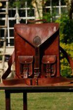 Casual  Style Real Genuine Leather Bag Rucksack Backpack Dark Brown Bag