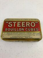 Vtg Steero Schieffelin & Co. New York Bouillon Cubes Metal Tin