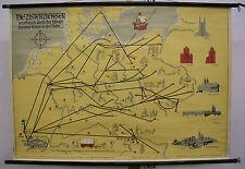 Schulwandkarte Wandkarte Deutschland Zisterzienser brauen auch Bier  119x83cm