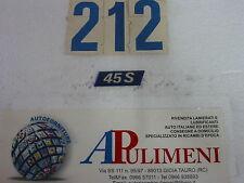 """44225 FREGIO-LOGO-SIGLA-SCRITTA (BADGE) LATERALE FIAT UNO """"45 S"""" 89>"""