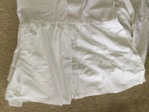 """New 14"""" QUEEN WHITE BEDSKIRT OR DUST RUFFLE  made in usa"""