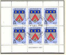 JERSEY 1981 December H-Blatt 10 P Wappen / Coat of Arms mit ESST VFU