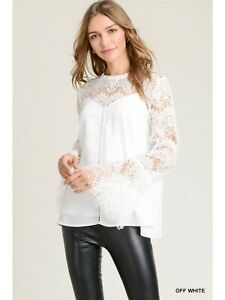 🌻 Jodifl Bell Sleeve Sweetheart Lace Top Small🌻