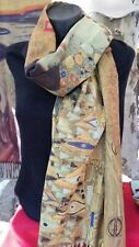 Echarpe Etole foulard Cachemire peinture art scarf klimt impressionnisme cubisme