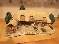 David Winter Cottages - Tythe Barn Hand painted In Great Britain