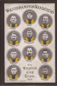 FOOTBALL. Wolverhampton Wanderers. The English Cup Team 1908.