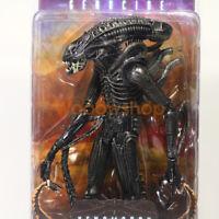 "NECA Xenomorph Warrior Black Alien 7"" Action Figure 1:12 Aliens Genocide Movie"