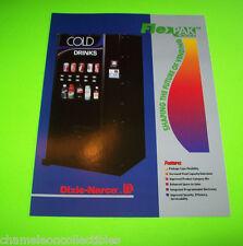 FLEX PAK 3000 By DIXIE-NARCO 1996 ORIG NOS SODA COLD DRINK VENDING MACHINE FLYER