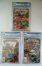 Marvel Contest of Champions #1, 2 & 3. CGC 9.4, 9.8 & 9.6 complete set,  WP 1982