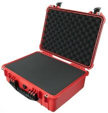 New Pelican Red & Black 1520 case. With foam - pluck.