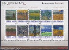 """NVPH 3013 P: VINCENT VAN GOGH 1853 - 1890: """"LANDSCHAPPEN""""  2015 vel postfris"""