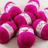 Sale 8x50gr Balls Soft Cashmere Silk wool Hand Knitting DK Baby Crochet Yarn 35