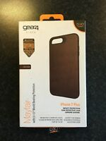 NEW - GEAR4 MAYFAIR  iPHONE 7 PLUS LEATHER PHONE APPLE CASE D30 BROWN SLIM COVER