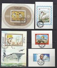 5 different Sharjah Souvenir and Miniature Sheets all fine used.        5
