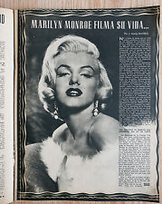 Marilyn MONROE photos and 2-page feature 1954 Spanish Cine Mundo magazine