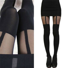Fashion Women Girls Temptation Sheer Mock Suspender Tights Pantyhose Stocking PB