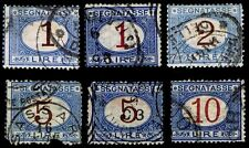 1870-1925 ITALY #J13-15, J17-18 & J20 P. DUE - USED - F/VF - CV$179.05 (E#1692)