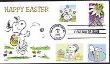 SNOOPY  EASTER  EGGS  PAINTING  WOODSTOCK    FDC- DWc  CACHET -p