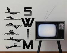 Swim Schwimmen Sport Wandtattoo Wallpaper Wand Schmuck 58x 80 cm Wandbild
