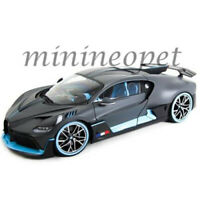 BBURAGO 18-11045 BUGATTI DIVO 1/18 DIECAST SATIN GREY with LIGHT BLUE ACCENTS