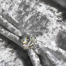 Soft Rich Silver Grey Crushed Velvet Upholstery Sofas Curtains Cushion FR Fabric