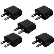 5pcs European EU to US USA Travel Power Charger Adapter Plug Outlet Converter il