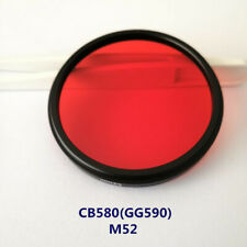 52mm 580nm IR Infrared Long Pass Filter Red Optical Glass CB580 GG590 for camera