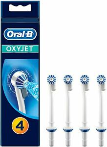 Braun Oral-B Oxyjet Replacement Nozzles in White - Pack of 4