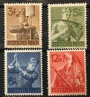 Germany 3rd Reich 1943 MI 850 - 853  Sc 237 - 40 Labor service ** MNH