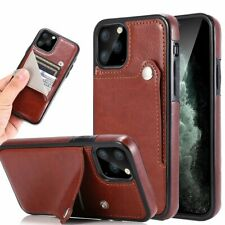 Cell Phone Case Wallet Flip Cover Mobile Card Slot Retro Leather Accessories New