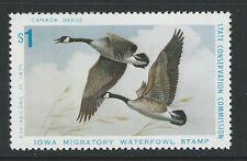 Ia4, $1.00 1975 Iowa Canada Geese, Mint Never Hinged