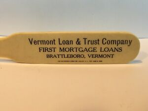 Vintage Brattleboro VT Mortgage Bank Celluloid Advertising Antique Letter Opener