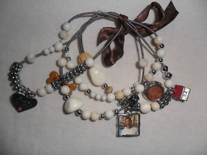 BROWN ELASTICATED BRACELET - WITH OR WITHOUT DOG CHARMS