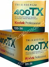 2 x KODAK TRI-X 400 TX 35mm 36exp Cheap Black & White Film by 1st CLASS POST