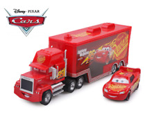 Disney Pixar Cars 2 Mack Truck + coche pequeño 1:55 Lightning McQueen Juguetes