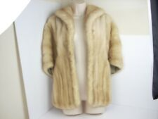 Natural Autumn Haze Mink Fur Stole Cape Shawl Wrap Vintage Cold Storage Pockets