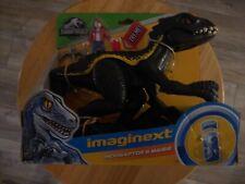 Imaginext Jurassic World Dinosaur Indoraptor Raptor & Maisie Fisher Price New