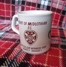 HEART OF MIDLOTHIAN F.C. MUG SCOTTISH CUP WINNERS 1998