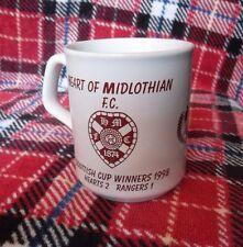 HEART OF MIDLOTHIAN F.C. MUG SCOTTISH CUP WINNERS 1998