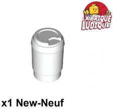 Lego - 1x Minifig utensil canette soda cup mug tasse blanc/white 15496 NEUF